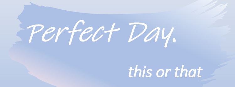 The perfect day (this or that)