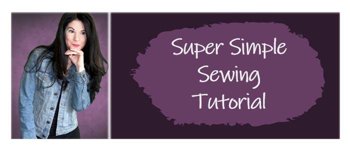 Simple sewing tutorial